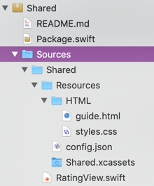 Add resources to Swift packages
