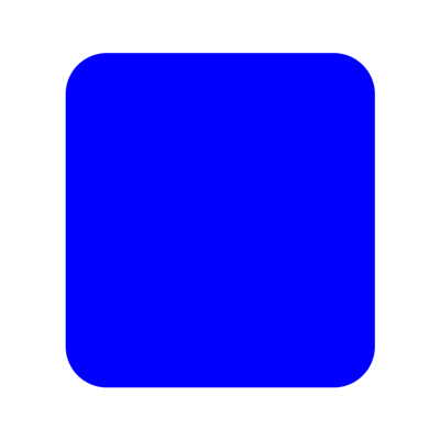 Blue view with rounded corners