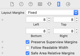 Size Inspector adding a fixed margin of 8 points