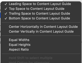 Constraints with the content layout guide