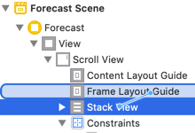 Using the frame layout guide