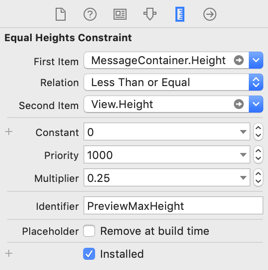 Max height constraint