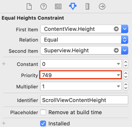 Content height constraint