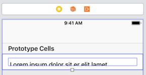 Xcode 10 table view cell with no self-sizing