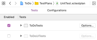 Test plan with UI tests disabled