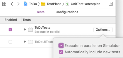 Execute tests in parallel on the simulator